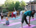As a volunteer you can take and give Yoga classes