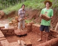 Volunteers build Ecological Constructions
