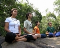 Yoga is one of the activities that volunteers can do